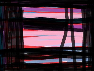 Anniversary landscape of my mind
