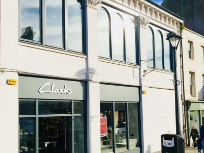 Freehold purchase for JEF Ltd T/A CLARKS for their relocated shop with development advice on purchase and upper floor residential conversion proposals at 42 Marygate, Berwick upon Tweed