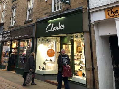 Acquisition for JEF limited trading as Clarks shoes at 12 Fore Street Hexham