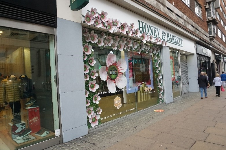 Holland & Barrett's new concept in Oxford Street London